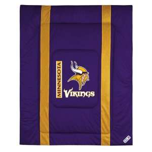Minnesota Vikings Sideline Comforter   Full/Queen Bed