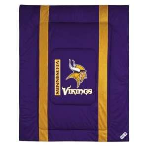 Minnesota Vikings Sideline Comforter   Full/Queen Bed