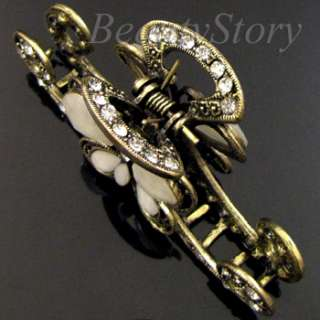 ADDL Item FREE SHIPPING rhinestone crystal Antiqued butterfly hair