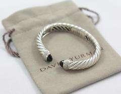 David Yurman Waverly Onyx Pave Diamond Bracelet   Sterling Silver