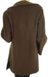 ELLEN TRACY Wool Angora Mahogany Kimono Coat US 4 729391966213