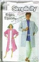 Misses Loose Fit Jacket Duster Coat Pattern 10 12 14
