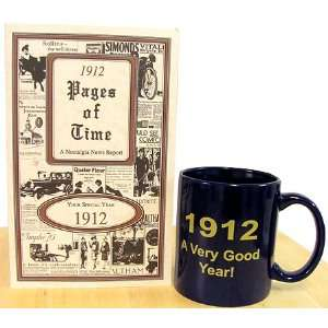 100th Birthday Idea   1912 Mug & Book: Home & Kitchen