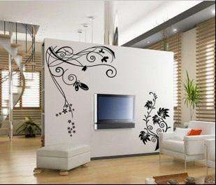 Flower Vine Art Deco Vinyl Wall Paper Sticker Decal 249