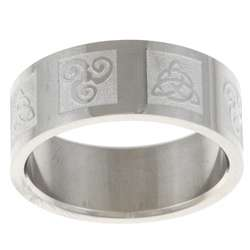Stainless Steel Ancient Celtic Symbol Ring  Overstock