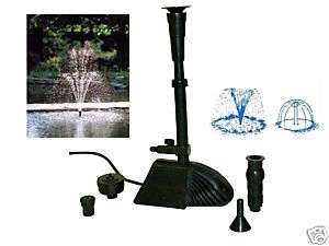 Submersible WaterFall Pond Water Fountain Pump W/Filter