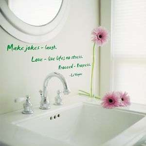 Make Jokes Laugh Lil Wayne Quote Vinyl Wall Decal