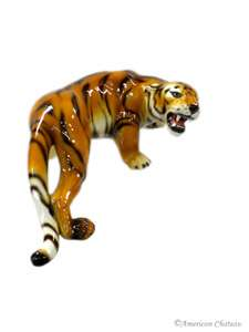 Large New Hand painted Tiger Figurine Statue~Made Italy