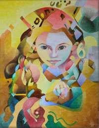 Large Original Contemporary Abstract Art Acrylic Painting, Closeup