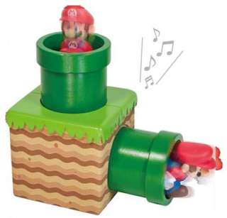 New Super Mario Brothers Wii Sound Figure Set Continuous 1UP & Clay