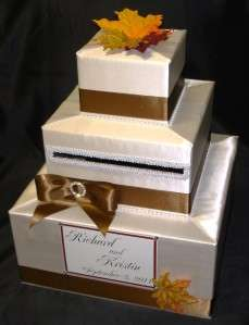 ELEGANT CUSTOM MADE WEDDING CARD BOX  Fall theme