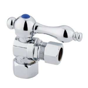 Decorative Quarter Turn Valves, 1/2 IPS x 1/2 OD COMP, Polished Bra