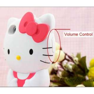 Japaness Red/Blue Cute 3D Hello Kitty Silicon Back Cover Case for