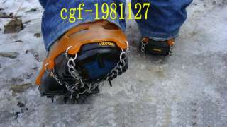 Magic Ice Cleats Shoes Grip Camping Climb Ice Crampon Orange