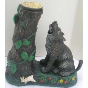 Cast Iron Wolf Mechanical Bank