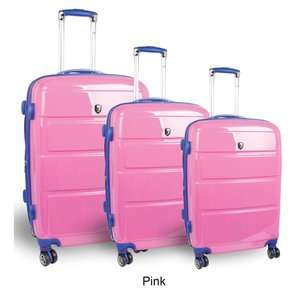 Vanesta 3 Piece Polycarbonate Expandable Spinner Luggage Set Luggage