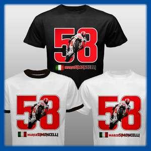 NEW MARCO SIMONCELLI T Shirt 58 Super Sic Tee S M L XL 2XL 3XL