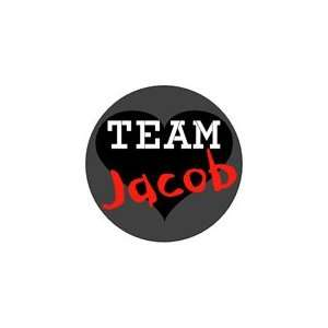 TEAM JACOB Pinback Button 1.25 Pin / Badge Twilight New Moon Black