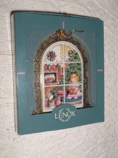 Lenox Christmas Morning Windows Ornament Mid 90s MIB