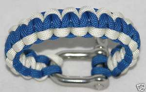 SALE Paracord Survival Bracelet with Stainless Steel Shackle NORMALLY