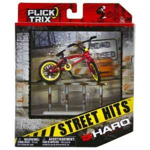 Haro Bikes & Flat Bar Rail: Flick Trix Street Hits ~4 BMX Finger Bike