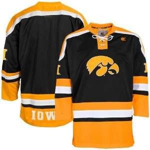 Iowa Hawkeyes Black Hockey Jersey (Medium) Sports
