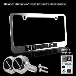 Black Stamped High Quality Chrome Plating Cast Zinc License Plate