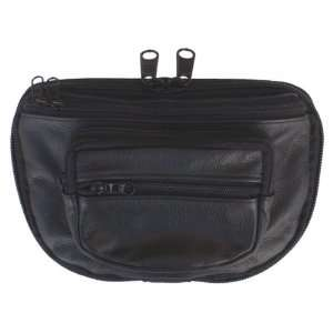 Concealed Carry Fanny Pack COWHIDE LEATHER Black:  Sports