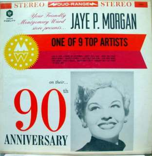 JAYE P. MORGAN montgomery ward 90th anniversary LP RED