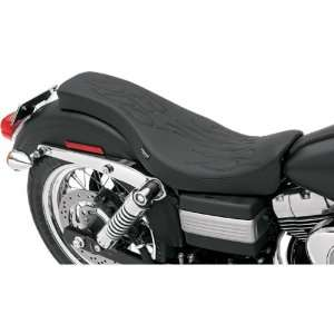 Drag Specialties Flame Stitch Spoon Style Motorcycle Seat For Harley