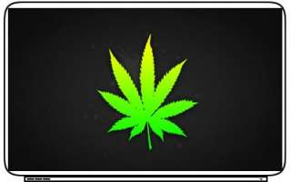 Marijuana Drugs Weed Get High Art Laptop Netbook Skin Cover Sticker