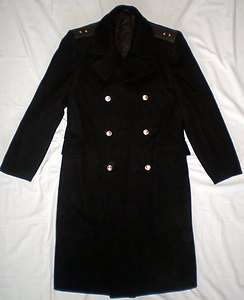 Russian Soviet Military Army Navy Naval Overcoat USSR Winter Coat Wool