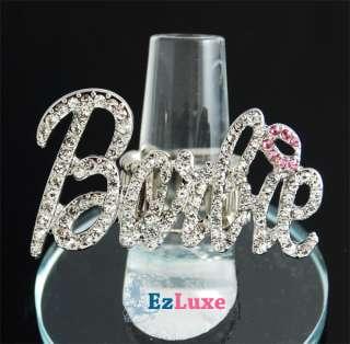 Iced Out NICKI MINAJ Barbie letter women Hip Hop RING