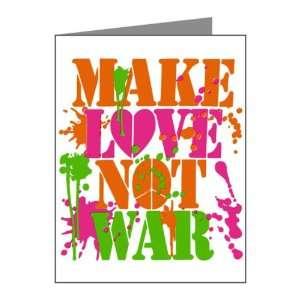 Cards (10 Pack) Make Love Not War Peace Symbol Sign