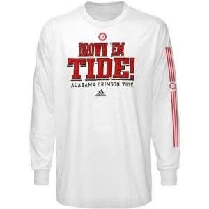 adidas Alabama Crimson Tide White Victory Song Long Sleeve