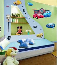 Disney NEW Pixar Cars Wall Stickers Kids Bedroom Decals Nursery Mural