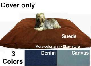 Dogbed4less Suede Fabric Duvet Pet Dog Bed Replacement Cover XXL or