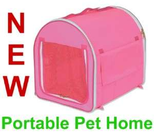 Pink Travel Pop Up Pet Kennel,Dog/Cat Portable Home,New