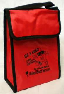LOT OF 3 BE A HERO RED INSULATED LUNCH BAG BOX THERMAL