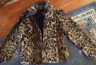 Gorgeous ALFANI animal CHEETAH LEOPARD jacket/coat Faux Fur Medium