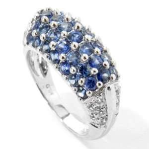 14K White Gold Blue & White Sapphire Ring Jewelry