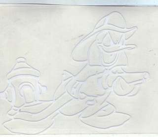 Cut Out Sticker Disney Donald Duck Fireman White
