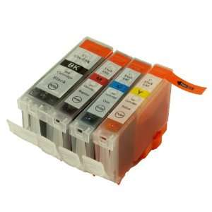 4 Pack. Compatible Cartridges for Canon BCI 3e and BCI 6