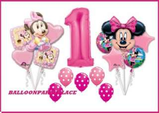 DISNEY MINNIE MOUSE first 1st birthday party supplies BALLOON