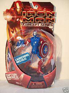 Iron Man Action figure,2008 movie, Captain America suit
