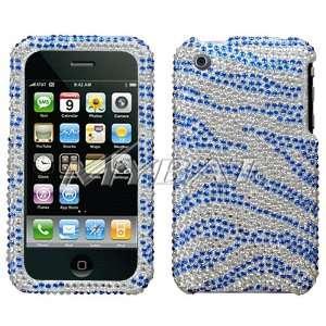 Case Cover Dark Blue and Light Blue Zebra Animal Skin Design Cell