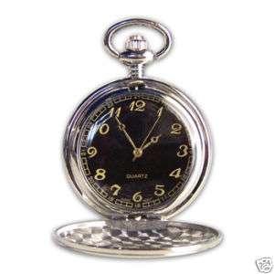 groomsmen gift engraved black face pocket watches