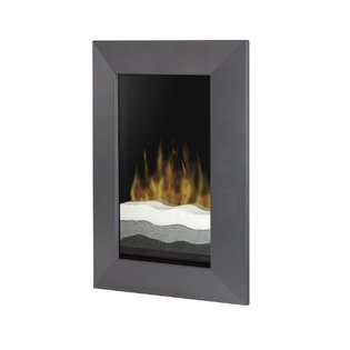 GM Trim Recessed Wall Mounted Electric Fireplace, Black