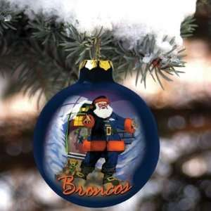 Denver Broncos Art Glass Ornament NFL Football Fan Shop Sports Team