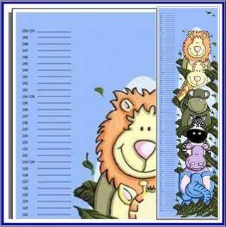 Child Growth Height Chart ZOOfari Jungle Animals BLUE